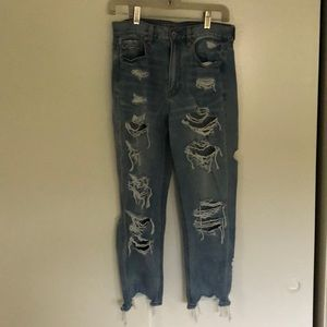 High-waisted America Eagle jeans